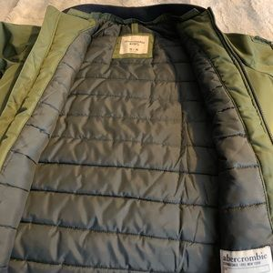 Abercrombie and Fitch green bomber jacket